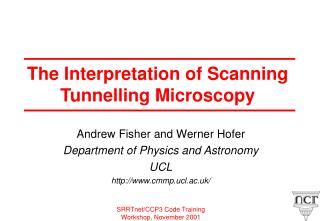 The Interpretation of Scanning Tunnelling Microscopy
