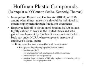 Hoffman Plastic Compounds Rehnquist w