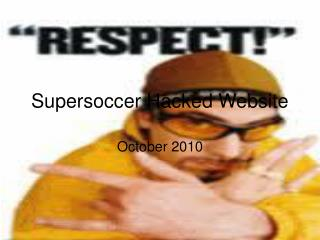 Supersoccer Hacked Website