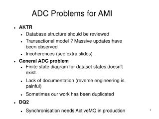 ADC Problems for AMI