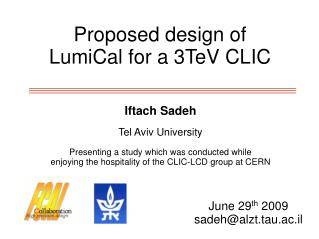 Proposed design of LumiCal for a 3TeV CLIC