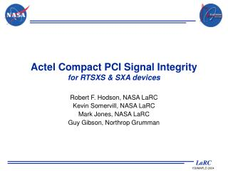 Actel Compact PCI Signal Integrity for RTSXS & SXA devices