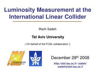 Luminosity Measurement at the International Linear Collider