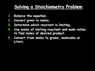 Solving a Stoichiometry Problem
