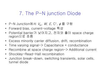 7. The P-N junction Diode