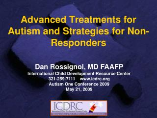 Advanced Treatments for Autism and Strategies for Non-Responders