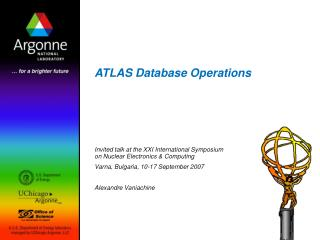 ATLAS Database Operations