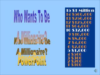 Who Wants To Be A Millionaire? PowerPoint