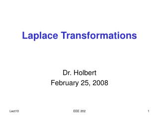 Laplace Transformations