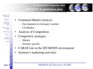 Continued Market Analysis Development in Germany's market US-Market Analysis of Competition