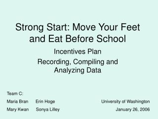 Strong Start: Move Your Feet and Eat Before School
