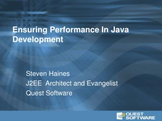 Ensuring Performance In Java Development