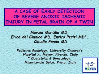 A CASE OF EARLY DETECTION OF SEVERE ANOXIC-ISCHEMIC INJURY IN FETAL BRAIN OF A TWIN