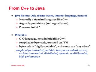 From C++ to Java