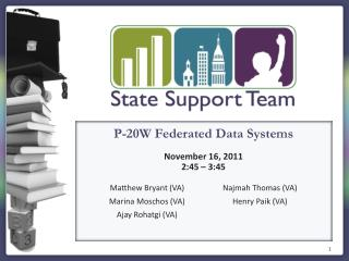 P-20W Federated Data Systems November 16 , 2011 2:45 – 3:45