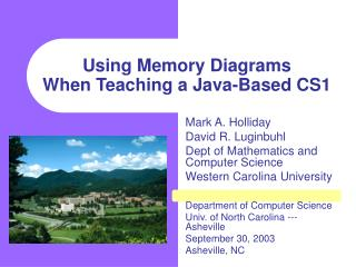 Using Memory Diagrams  When Teaching a Java-Based CS1