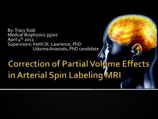 Correction of Partial Volume Effects in Arterial Spin Labeling MRI