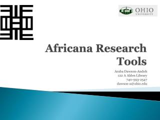 Africana Research Tools