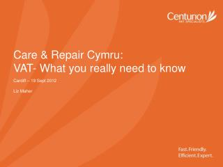 Care & Repair Cymru: VAT- What you really need to know