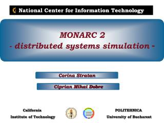 MONARC 2 - distributed systems simulation  -