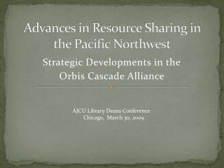 Advances in Resource Sharing in the Pacific Northwest