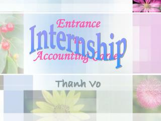 Entrance  to  Accounting Career