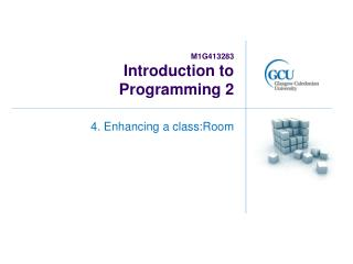 M1G413283 Introduction to  Programming 2
