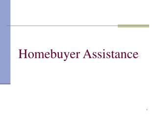 Homebuyer Assistance