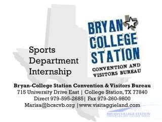 Sports Department Internship
