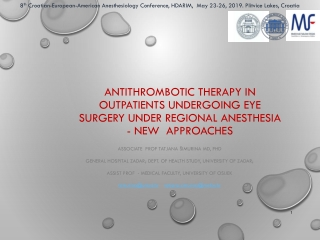 Antithrombotics:  What s new with the old  and new