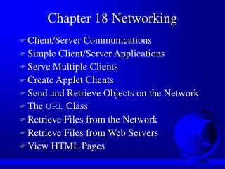 Chapter 18 Networking