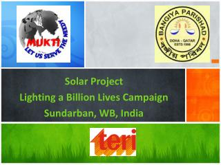 Solar Project Lighting a Billion Lives Campaign Sundarban, WB, India