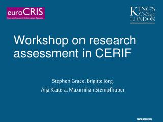Workshop on research assessment in CERIF