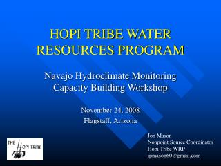 HOPI TRIBE WATER RESOURCES PROGRAM