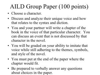 AILD Group Paper (100 points)