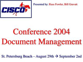 Conference 2004 Document Management