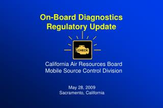On-Board Diagnostics  Regulatory Update