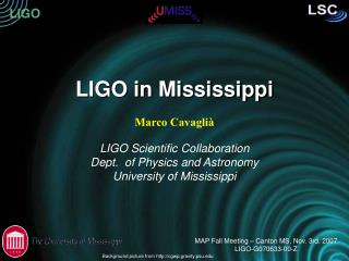 LIGO in Mississippi