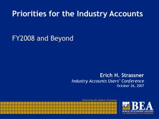 Priorities for the Industry Accounts
