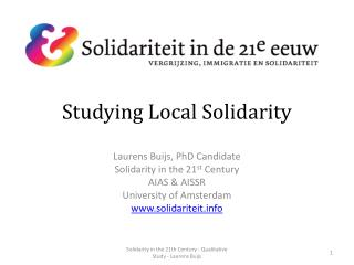 Studying Local Solidarity