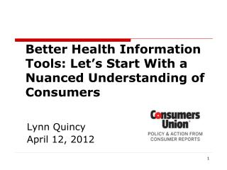 Better Health Information Tools: Let's Start With a Nuanced Understanding of  Consumers