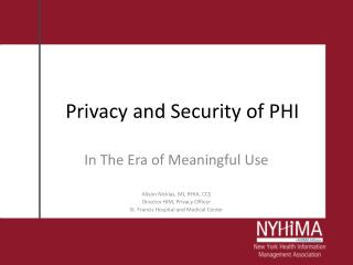 Privacy and Security of PHI