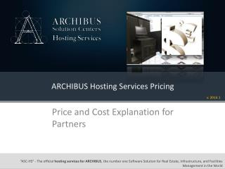 ARCHIBUS Hosting Services Pricing