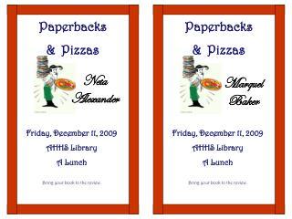 Paperbacks & Pizzas