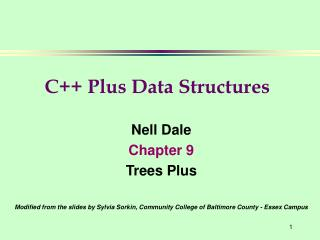 Nell Dale Chapter 9 Trees Plus