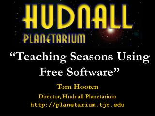 """Teaching Seasons Using Free Software"""