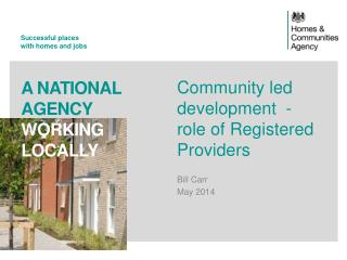 Community led development  - role of Registered Providers
