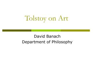 Tolstoy on Art