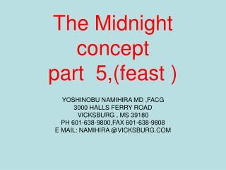 The Midnight concept part  5,(feast )
