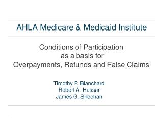 AHLA Medicare & Medicaid Institute